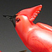 Speaking of Colors, Molly Stone - Hand Sculpted Glass Cardinals