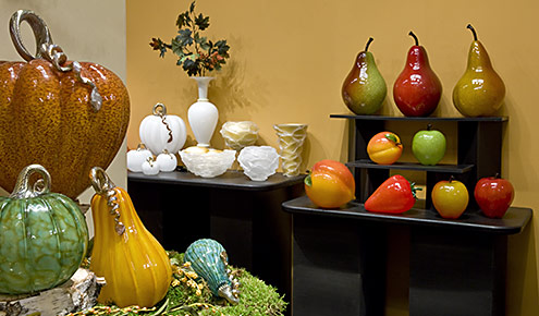 Cohn Stone Glass is on display in the Glass Gallery at Cohn-Stone Studios